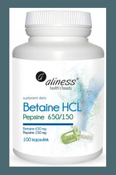 Betaine HCL Pepsine 650/150mg