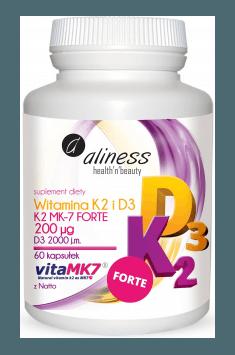 Vitamin K2 FORTE MK-7 with Natto + D3 200mcg