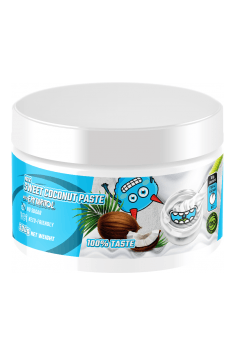 Coconut paste with erythritol