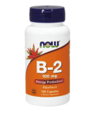 NOW FOODS Vitamin B-2 100mg 100 Kapseln
