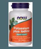 NOW FOODS Potassium + Iodine 180 Tabletten