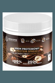 Proteincreme mit Schokoladen-Haselnuss-Geschmack